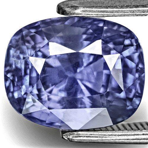 4.51-Carat Eye-Clean Cushion-Cut Lustrous Intense Blue Sapphire