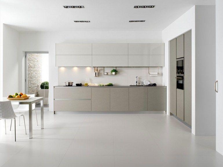 Cucina con isola SERIE 45 NATURAL LINEN Collezione Contemporary by Muebles Dica