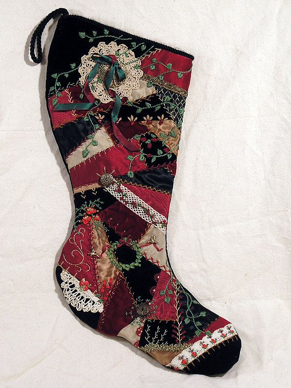 Patchwork Quilt Stocking Quilted Christmas Stockings