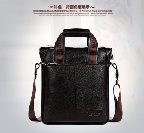 3b1c9625d311 Coffee Large Bostanten Shoulder Bag Man Briefcase Leather Messenger Laptop  Bag  fashion  clothing  shoes  accessories  mensaccessories  bags (ebay  link)