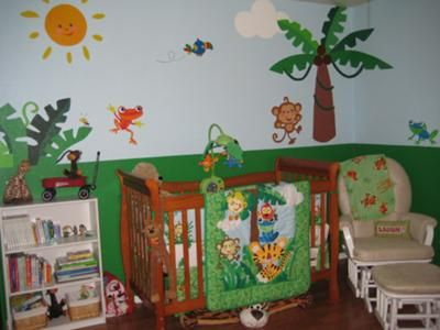 Ryder S Rainforest Nursery As An Animal Lover I Fell In Love With The Fisher Price Collection All Bright Colors And When