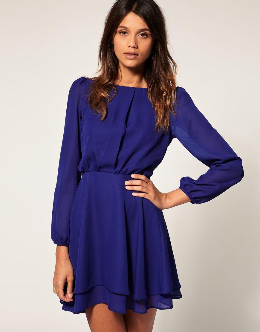 Blau klein, combinable amb un cinturó negre a la cintura | Vestidos ...