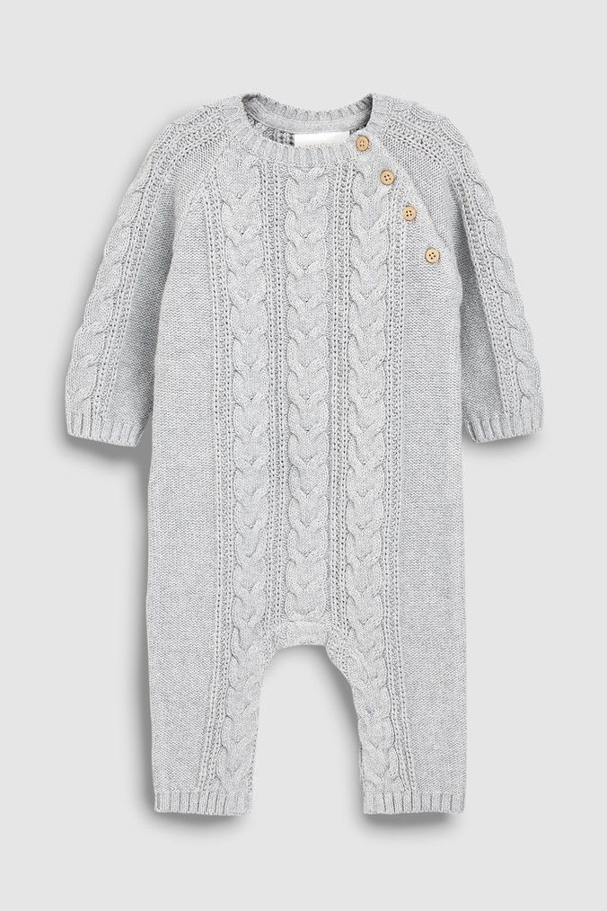 86a71aa04 Boys Next Grey Cable Knit Romper (0mths-2yrs) - Grey | Products ...