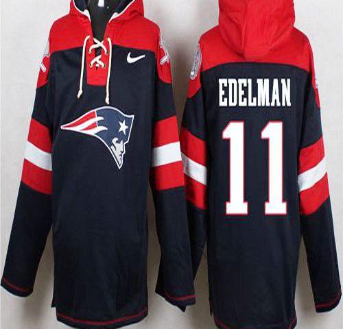 pretty nice cd7f5 a0787 Julian Edelman Navy Blue Player Pullover NFL Hoodie | NFL ...