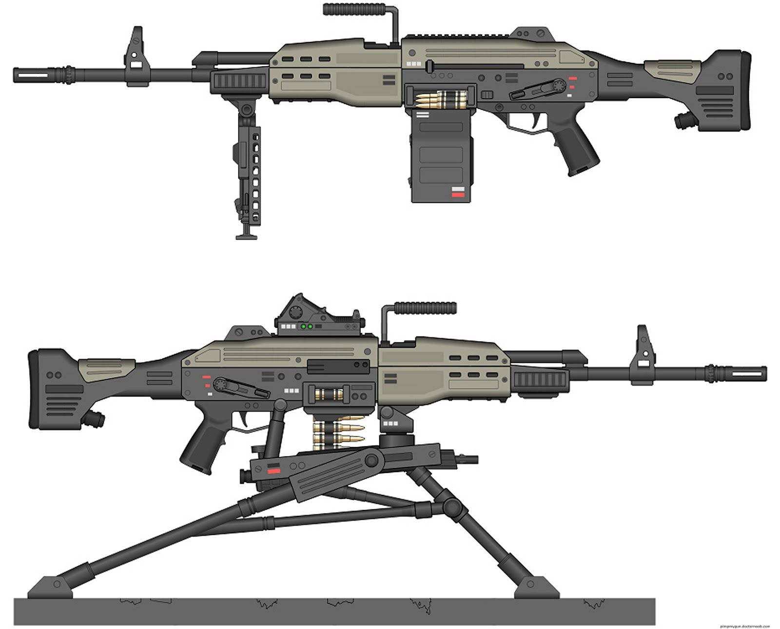 ak47+ak+47+50+caliber+heavy+machine+gun+sci+fi+weapon ...