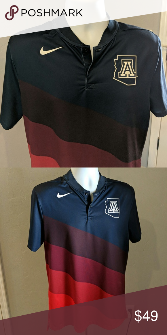 c9e54715a Nike blade collar University of Az golf shirt Nike blade collar golf polo.  With University of Arizona logo. This is a fantastic-looking shirt, it's  just too ...