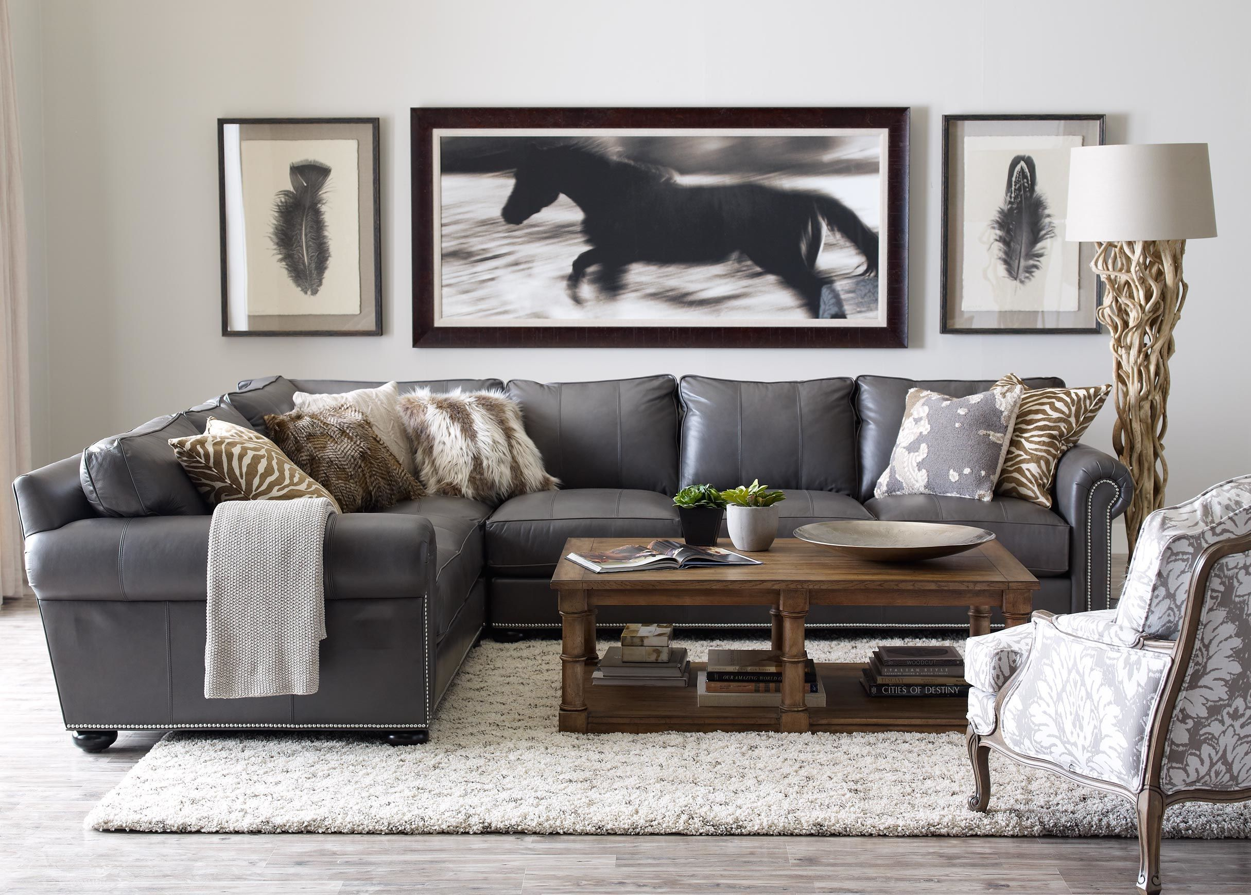 Best Richmond Leather Sectional Living Room Leather Living 400 x 300