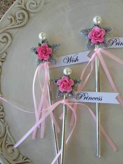 Shabby chic magic wands for princess birthday party or by for Birthday wand