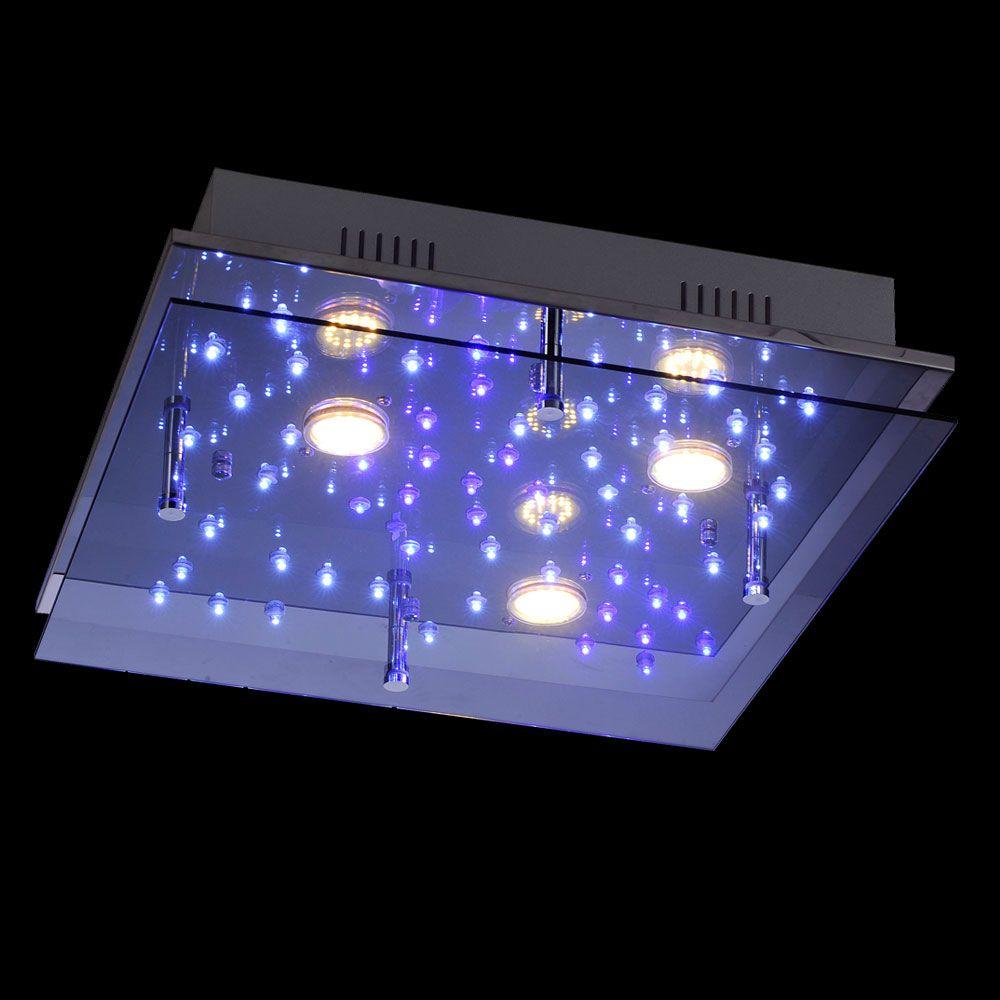 Leuchtendirekt Night Sky Deckenlampe Led Sternenhimmel 45x45 Cm Chrom Bei Skapetze Com Led Deckenlampen Deckenlampe Und Led