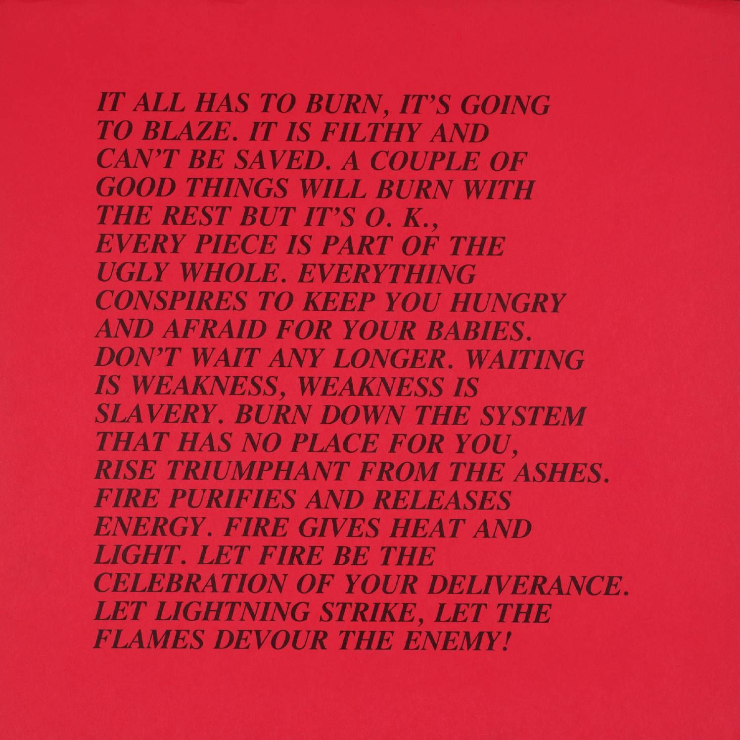 offset lithographs × × on paper of various  jenny holzer no title from i xxix inflammatory essays complete