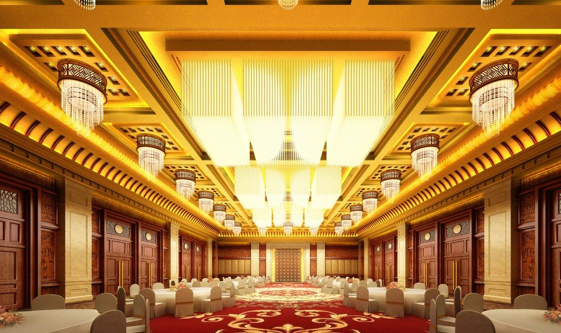 Chinese banquet hall interior decoration 1123 for Banquet hall designs layout