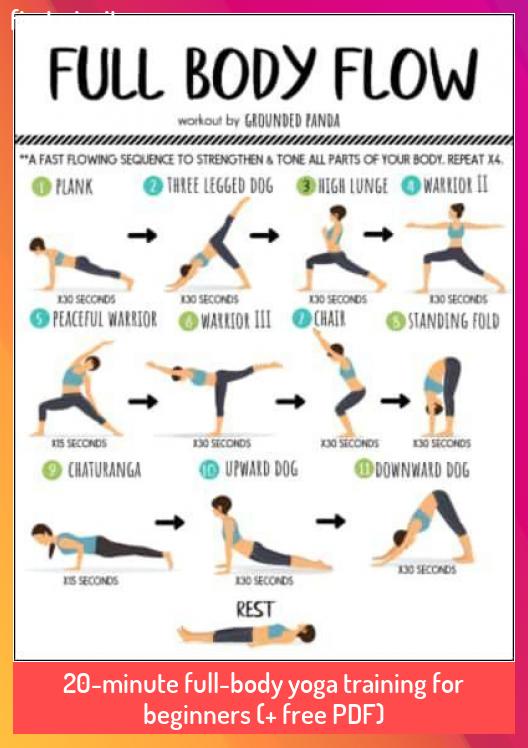 20 Minute Full Body Yoga Training For Beginners Free Pdf 20minute Beginners Free Ful Full Body Yoga Workout Workout For Beginners Beginner Yoga Workout