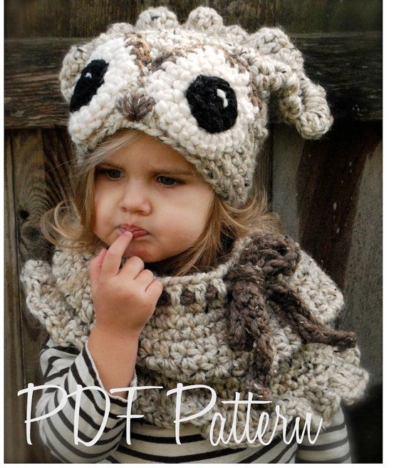 Crochet PATTERN-The Odette Owl Set (Toddler, Child and Adult sizes ...