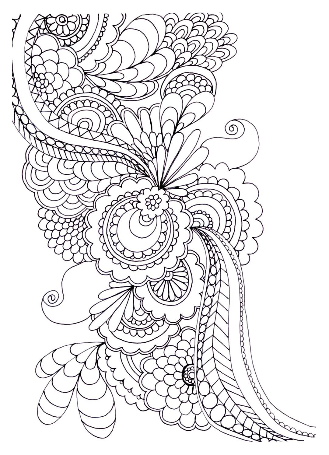 Coloring pictures to print of flowers - Free Coloring Page Coloring Adult Zen Anti Stress To Print Drawing Flowers Coloring Adult Zen Anti Stress To Print Drawing Flowers