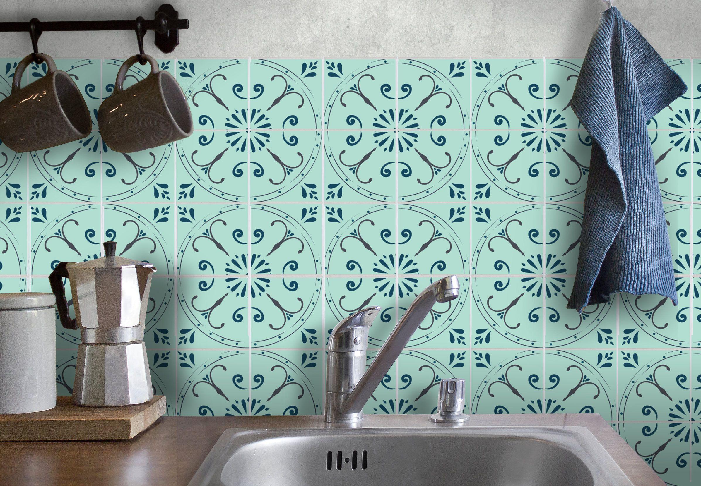Tile decals, carrelage stickers, tile tattoo, kitchen/bathroom ...