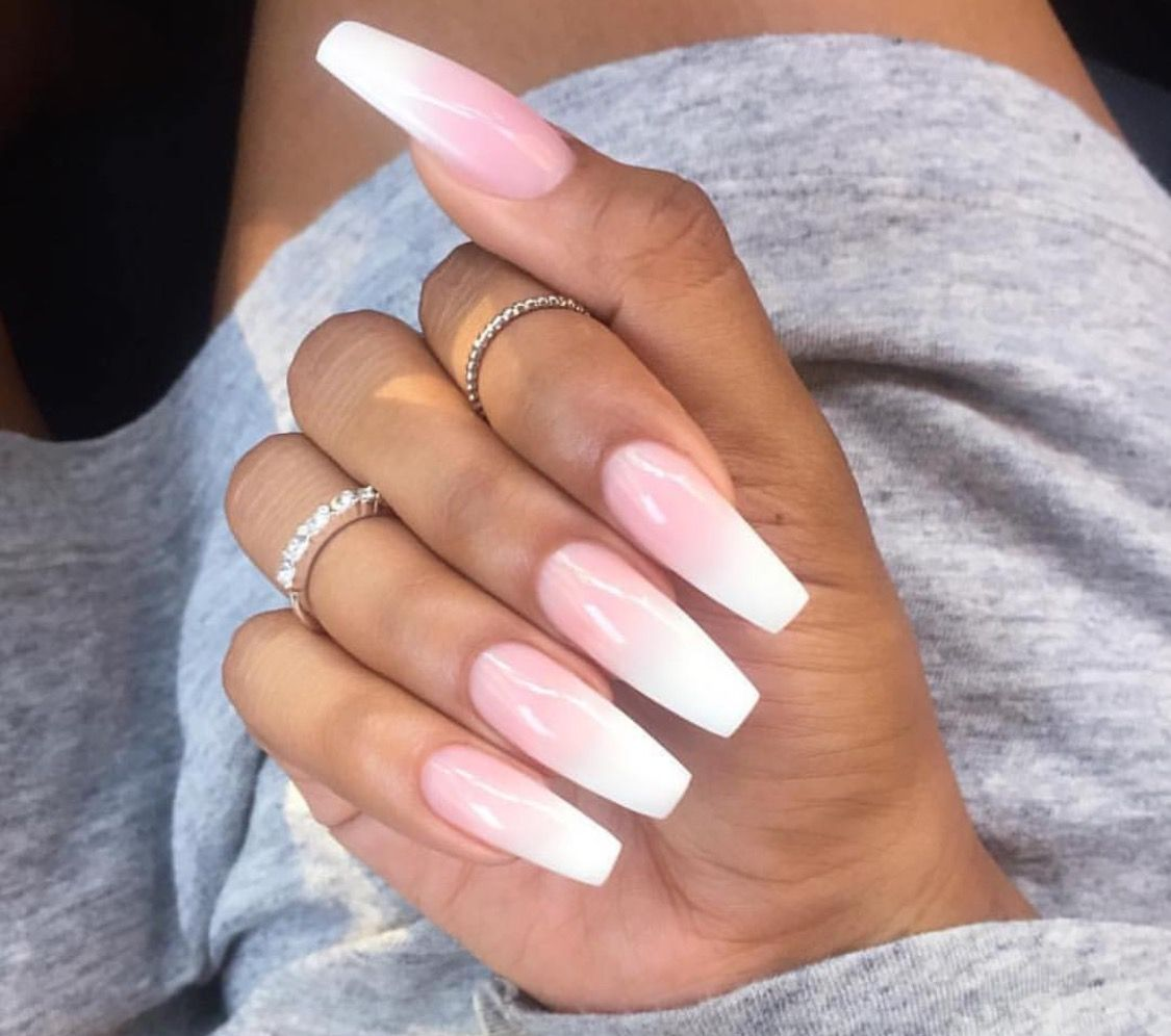 Pin by ccammacc on nails | Pinterest | White acrylic nails, Coffin ...