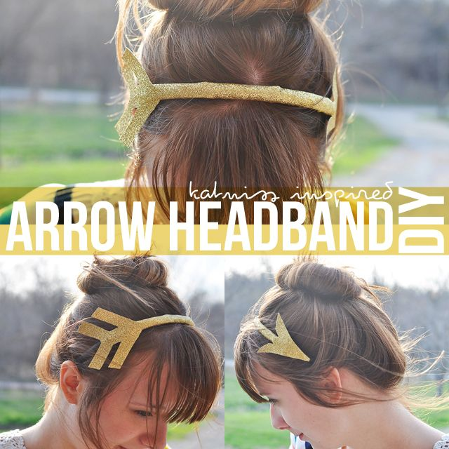 Katniss Everdeen/The Hunger Games inspired arrow headband. So cute! I want to make one myself for the premiere. :)