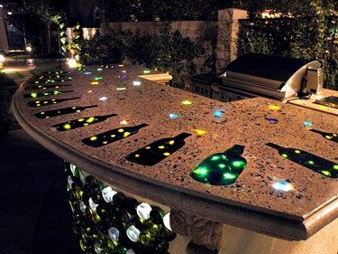 Lighted countertop outdoor kitchens concrete counter top decks lighted countertop outdoor kitchens concrete counter top decks patio kitchen mozeypictures Image collections