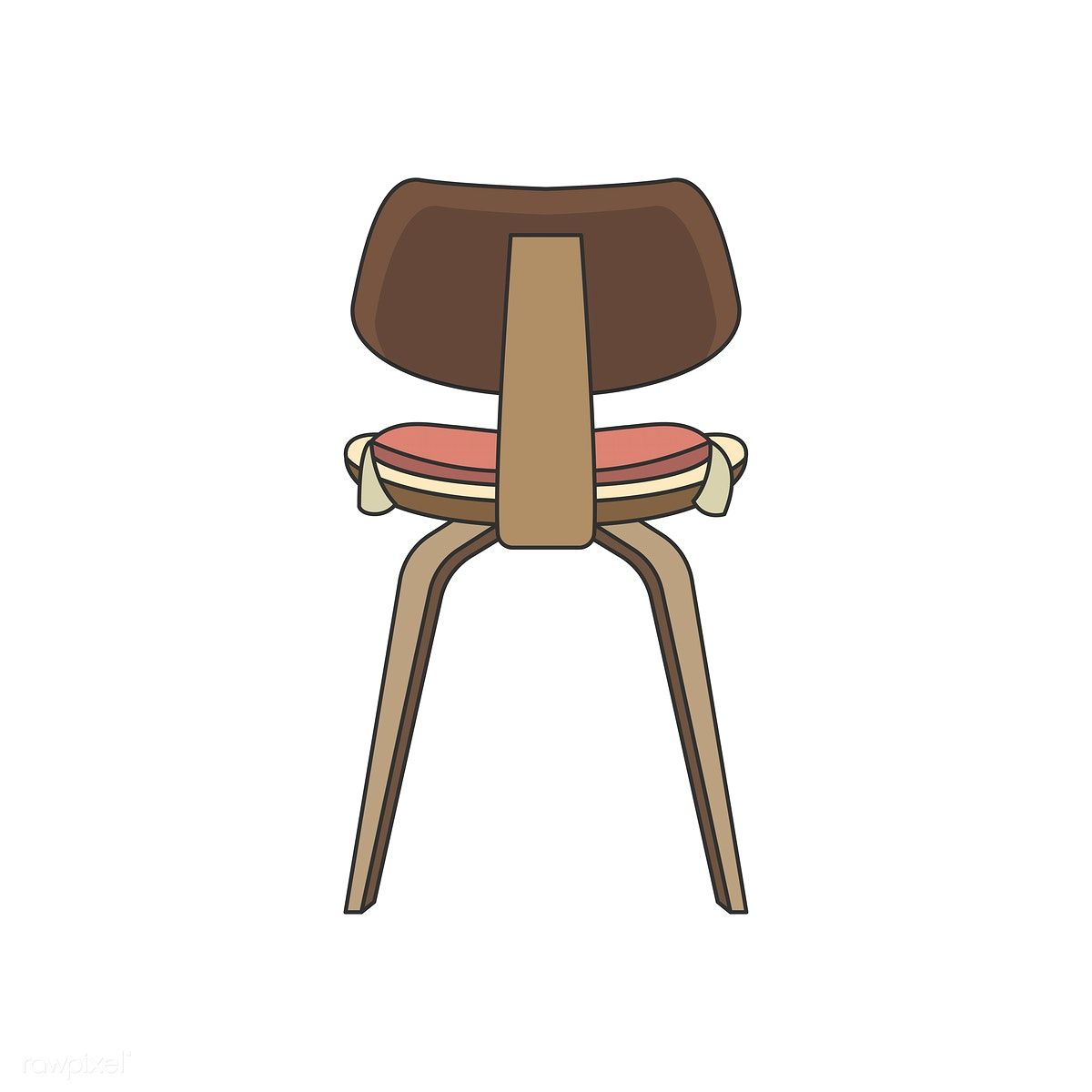 Illustration Of The Back Of A Chair Free Image By Rawpixel Com In 2020 Illustration Vector Free Vector