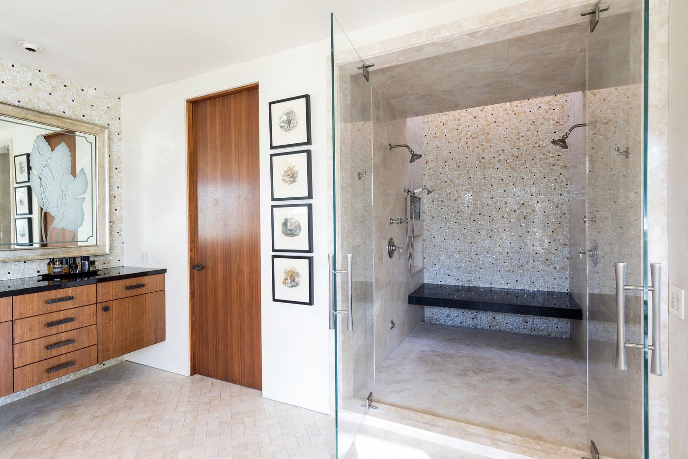 how to update a 1960s stone fireplace
