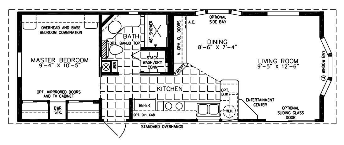 The Deloro Cottage Dc 1373 Park Model Home Floor Plan Jacobsen Homes Floor Plans House Floor Plans Park Model Homes