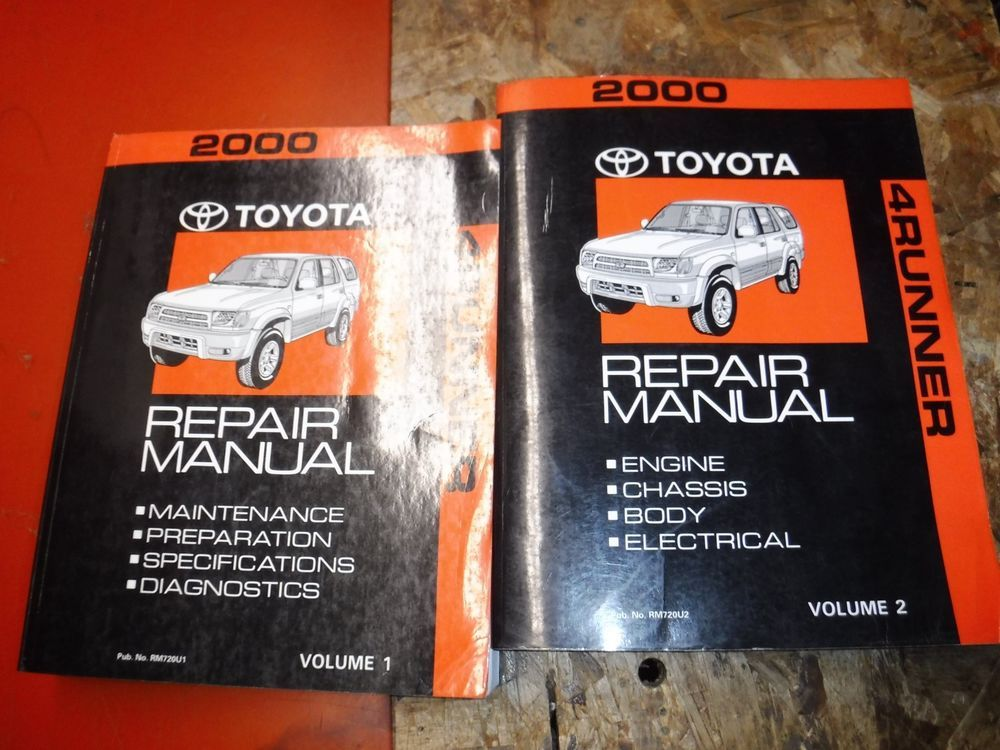 2000 Toyota 4runner Original Factory Service Manual Shop Repair Repair Manuals 2000 Toyota 4runner Toyota 4runner