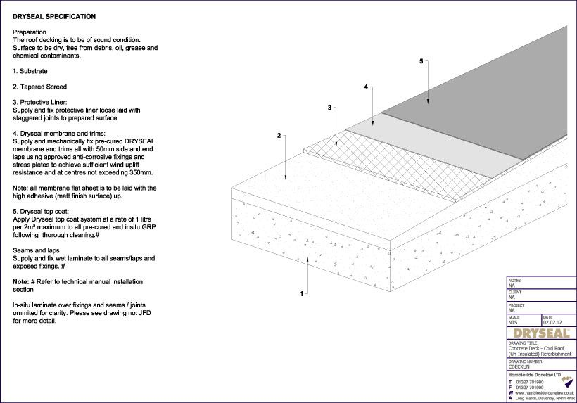 Flat concrete roof construction details detail drawings for Icf concrete roof