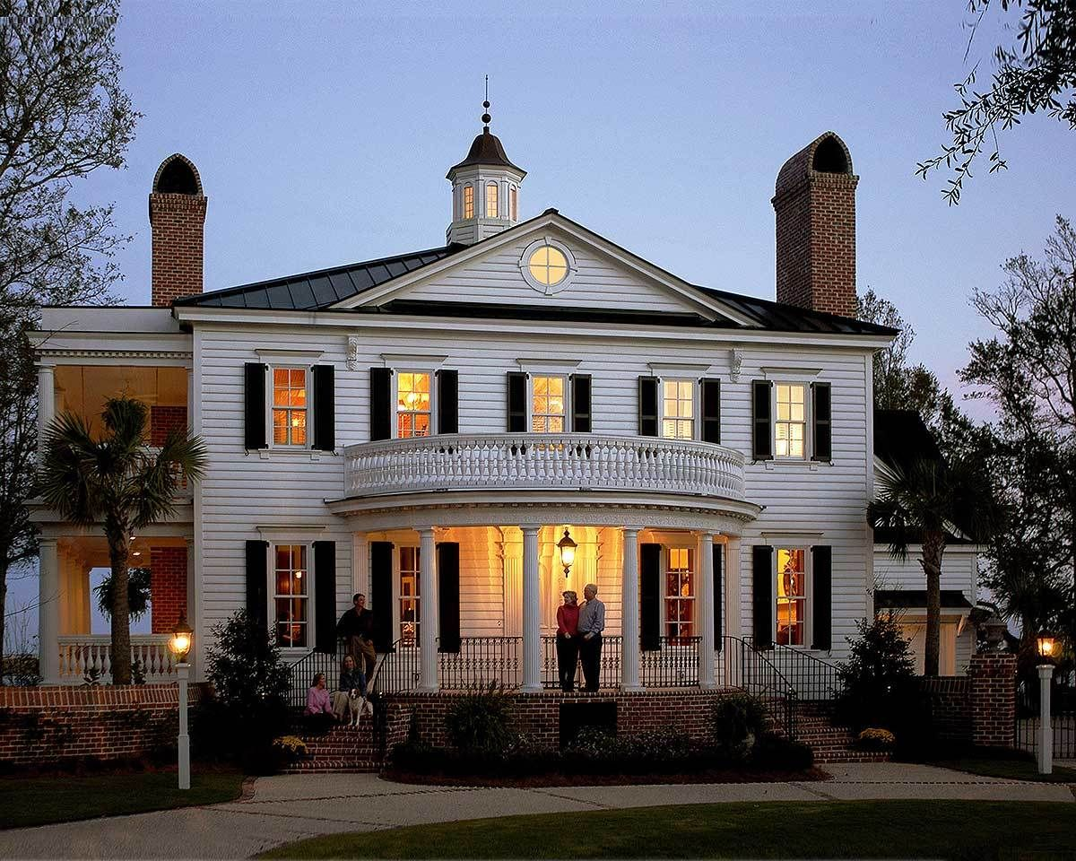 Plan 32459WP Stunning Southern Home Plan Colonial house