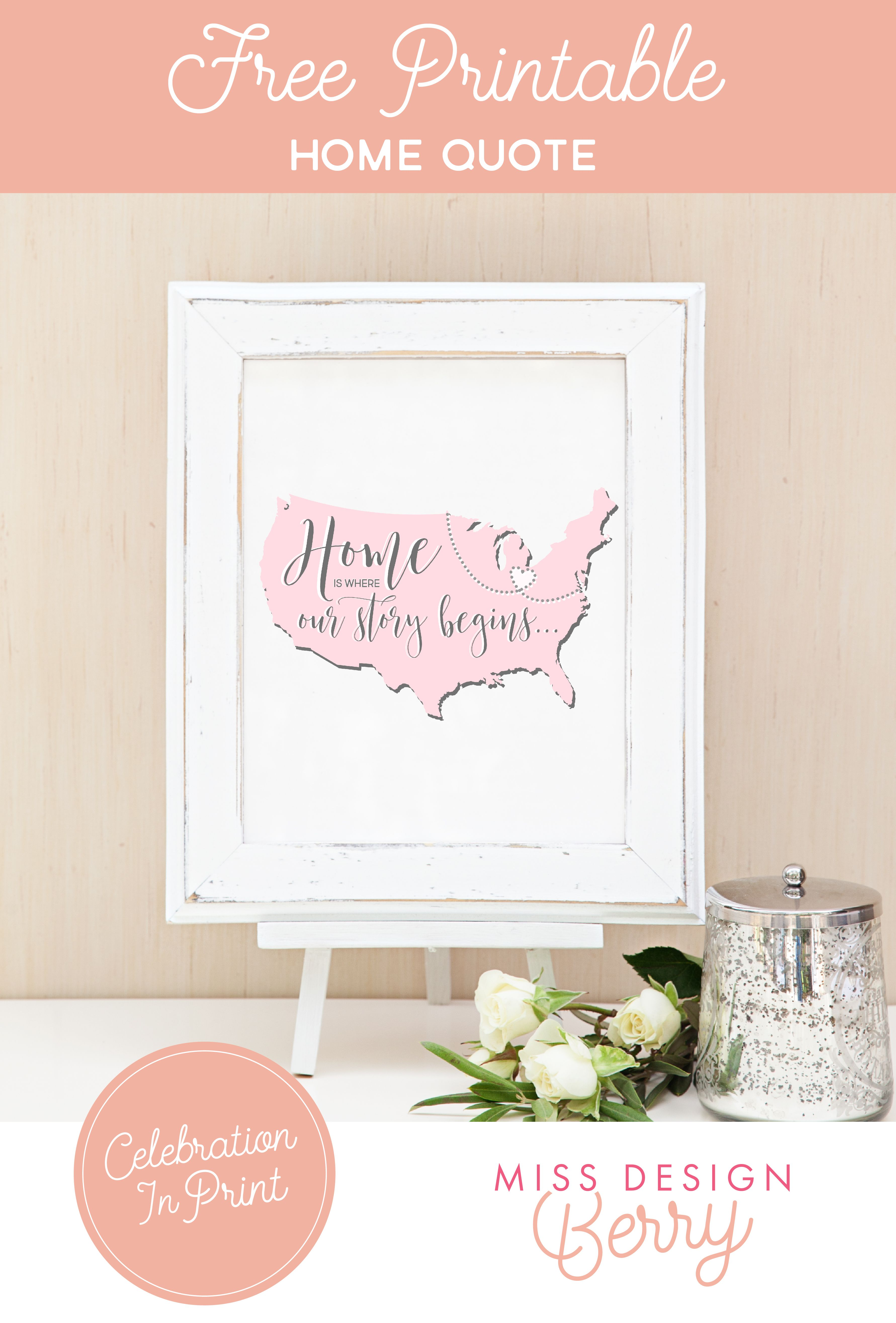 Friday Freebie Printable Home Quote The Wedding Pros The
