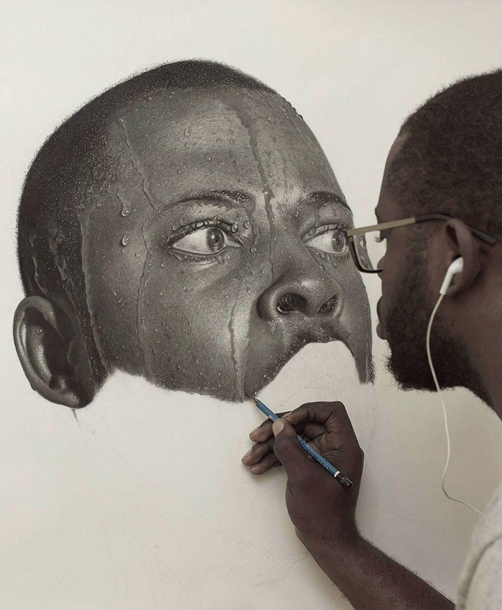 Artist Uses Pencils To Create Striking Hyper Realistic Portraits - Artist uses pencils to create striking hyper realistic portraits