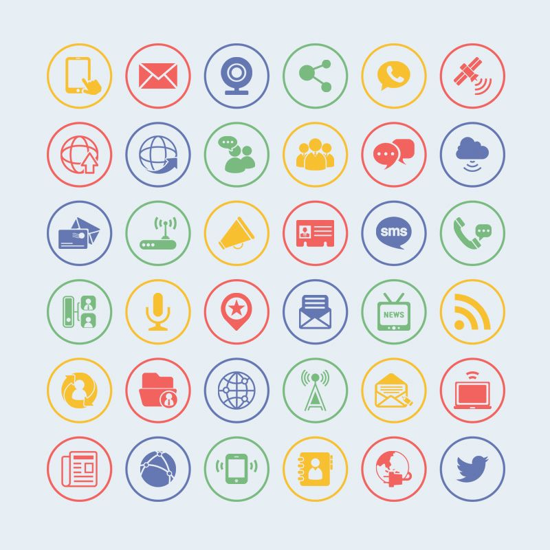 business card icons vector free