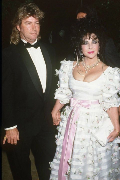 Of course Liz had more than a few notable marriages, but this one was unique because it was held at Michael Jackson's Neverland ranch. Classy. This was not her wedding dress, but it should have been, obviously.
