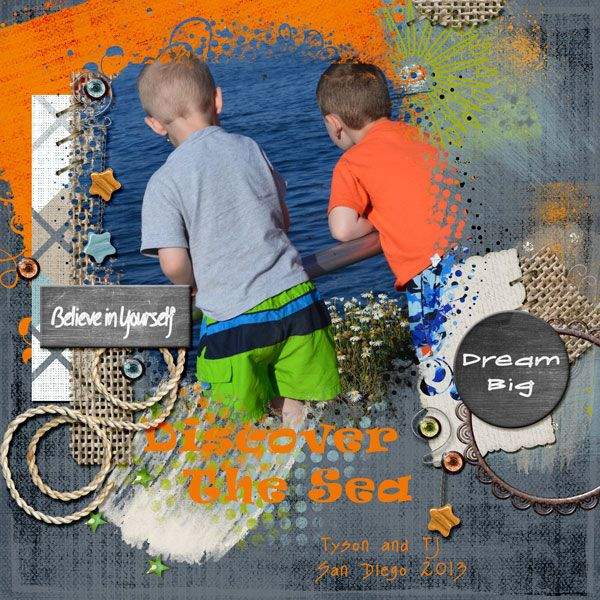 Tj and Ty checking out the sea lions in San Diego. This was their first time to visit the sea and all it has to offer and they were in Heaven. Loved every minute of their time there. Credits: Doodle Do Border Set, Designs by Laura Burger Doodle Do Mask set #2, Designs by Laura Burger Inspiration kit, Designs by Laura Burger Font is Ravie