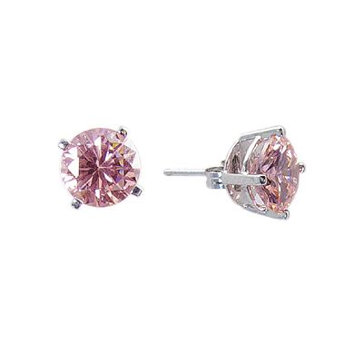 My Husband Got Me These For Our Anniversary 2 Carats Pink Diamond Earringsdiamond
