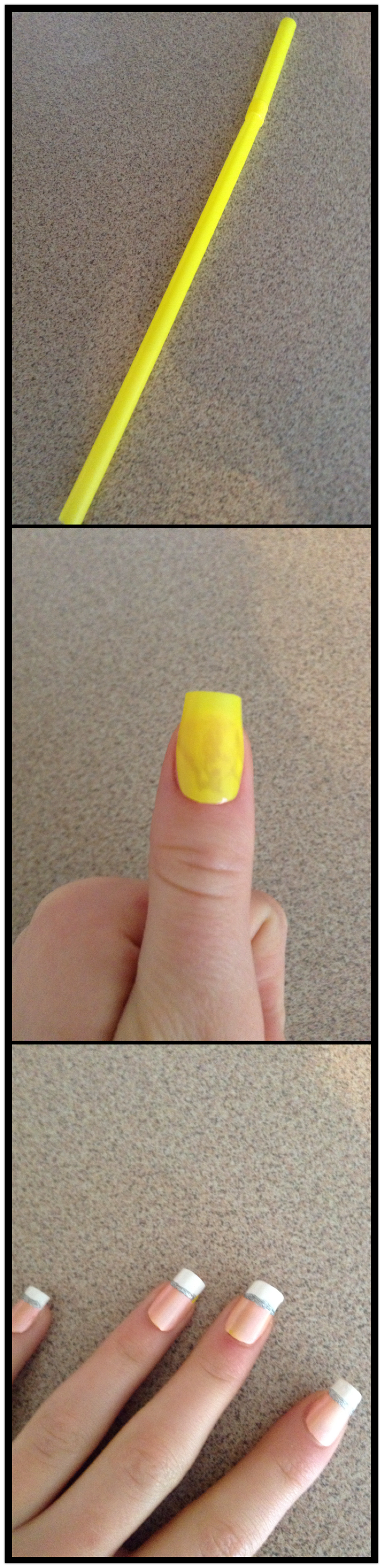 Fake nails made out of straws! First you get a straw and cut it so ...