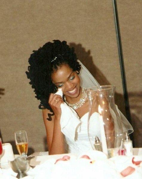 Beautiful Wedding Updo Natural Hair Bride Natural Hair Wedding
