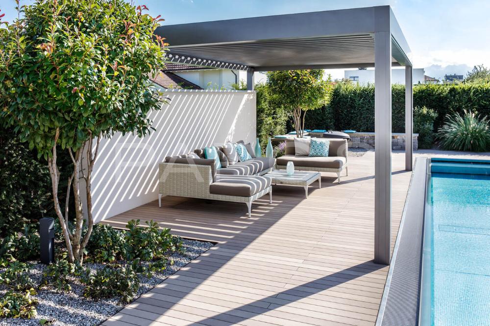 31+ Gartengestaltung mit pool und terrasse ideen