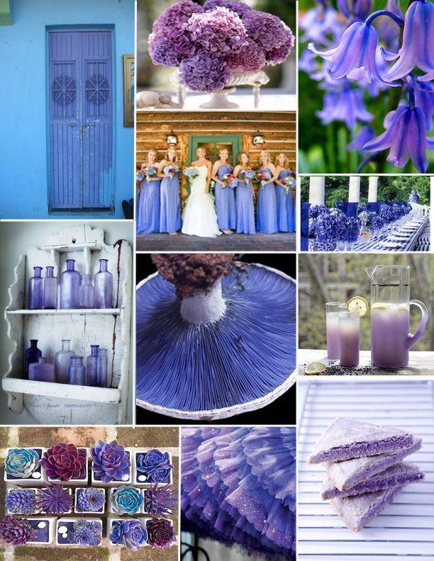 Purple Blue Periwinkle Wedding Centerpieces