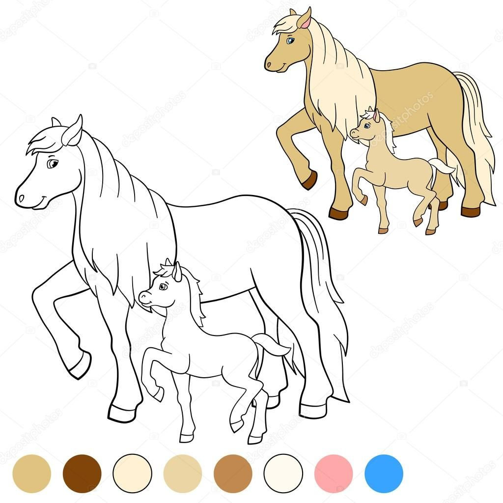 Image Result For Kleurplaat Paardjes Kleurplaten