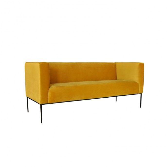 Neptune 2 Sitzer Sofa Gelb Sofa Gelb 3 Sitzer Sofa 2 Sitzer Sofa