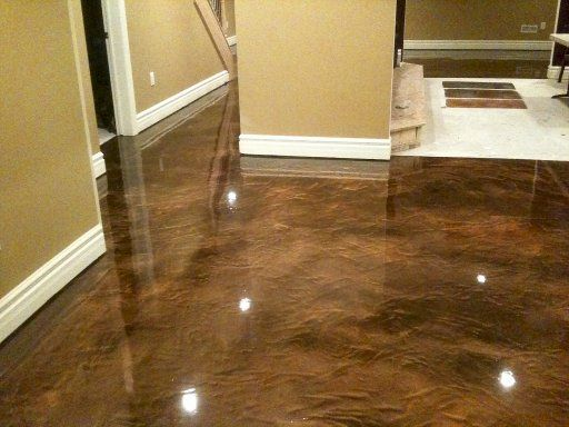 Would You Like To Give Your Concrete Floor A Showroom Look