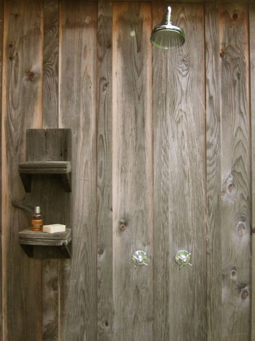A wonderful outdoor shower