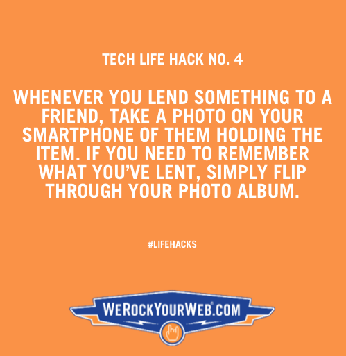 Never forget what you've lent to friends again by following this tip. #lifehacks #techtip