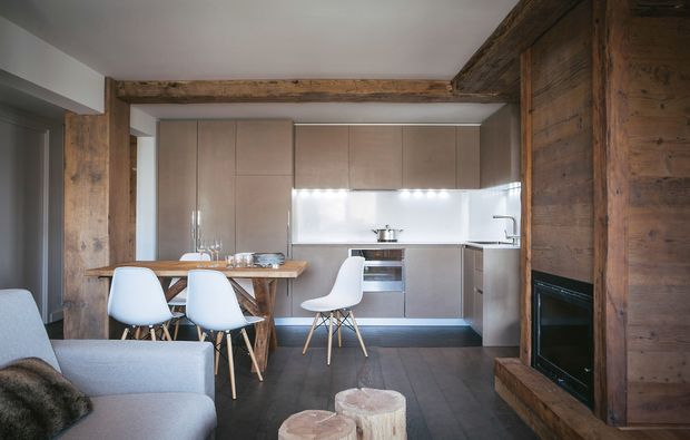 Case di montagna soluzioni e idee per una mini casa - Cucine di montagna ...