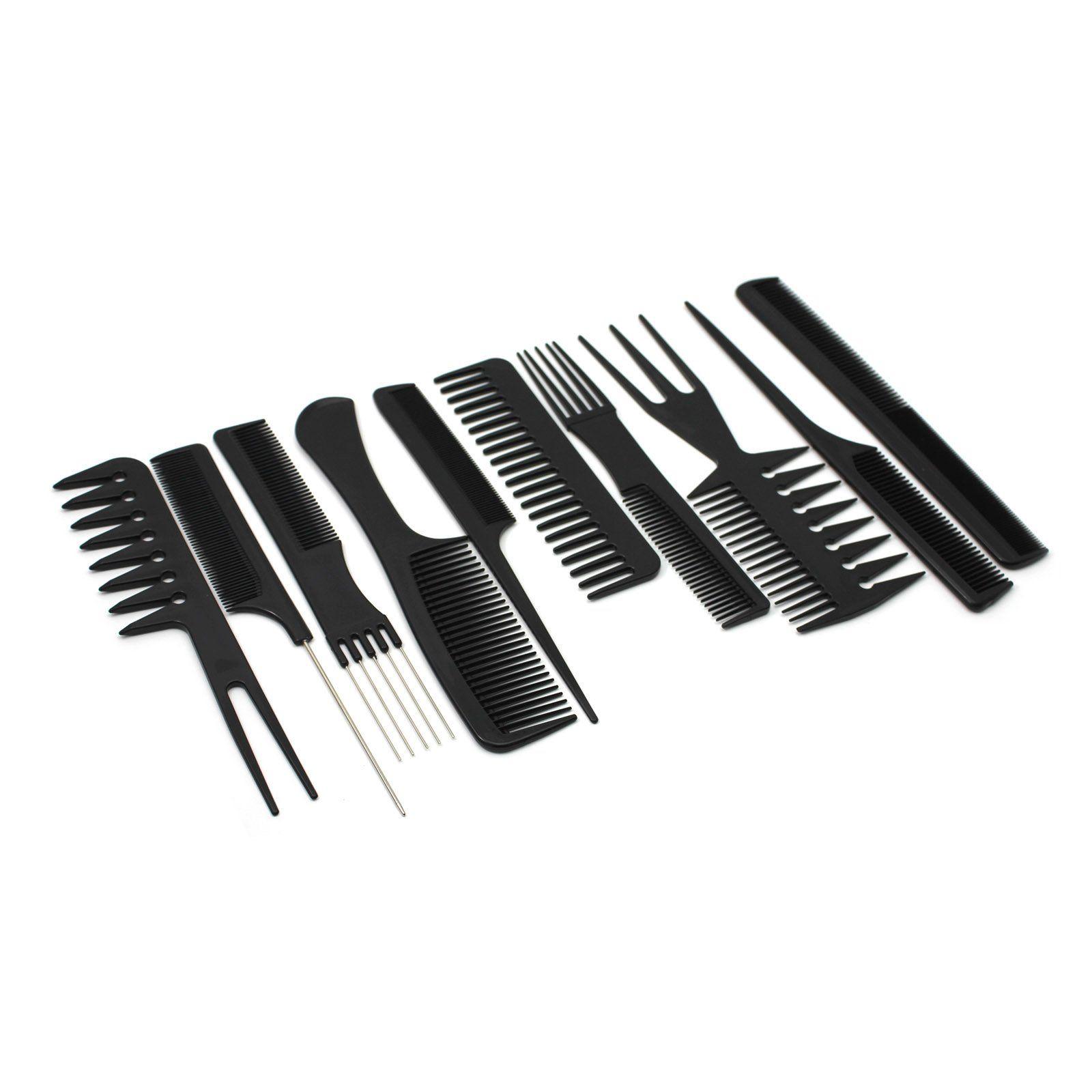 10 Pcs Set Professional Salon Hairdressing Tools Home Hair Styling Combs Styling Comb Hairdresser Hair Styles