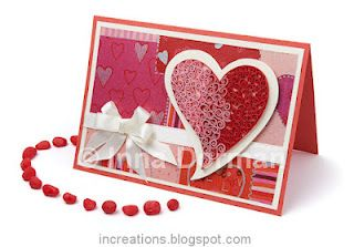 Quilled Valentine S Day Card Quilling Cards Pinterest Quilling