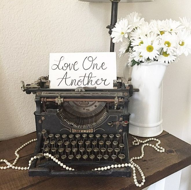 vintage office decorating ideas. Vintage Typewriter Loveoneanotherrusticpigdesigns Office DecorLove Decorating Ideas