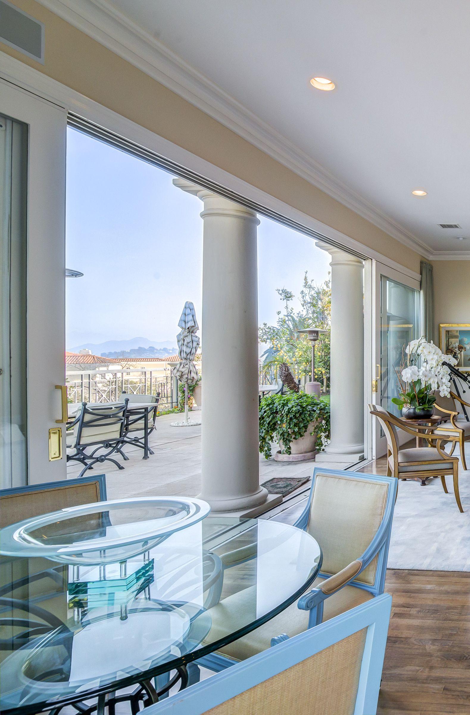 mediterranean bel air mansion with antique furniture and modern