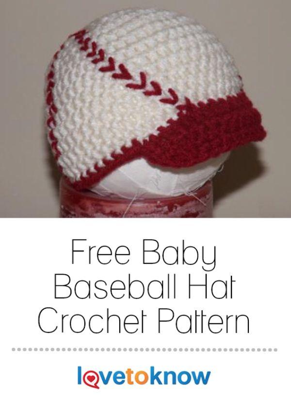 Baby Baseball Hat Crochet Pattern Crochet Hats For Baby Kids Crochet Baby Hat Patterns Crochet Baby Dress Free Pattern Newborn Crochet Patterns