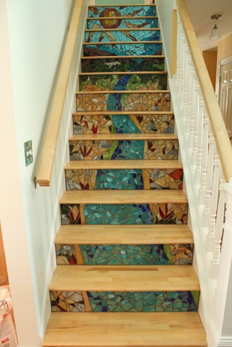23+ Pretty Painted Stairs Ideas To Inspire Your Home | House Paint Design, Paint  Stairs And Modern Stairs Design